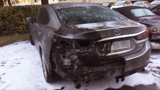 bil brændt