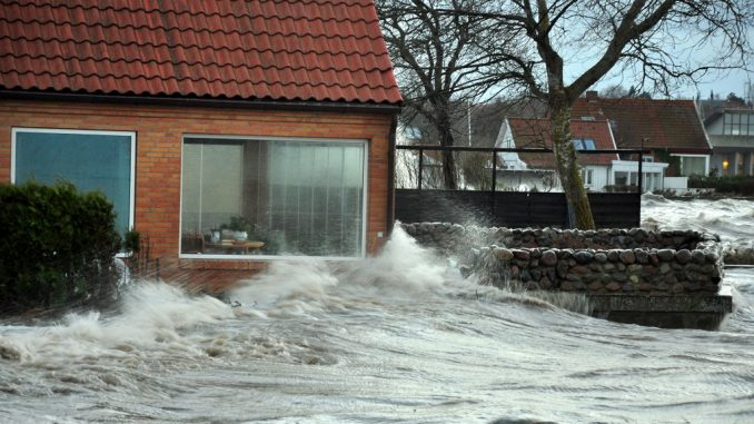 stormflod oversvømmelse regn vinter